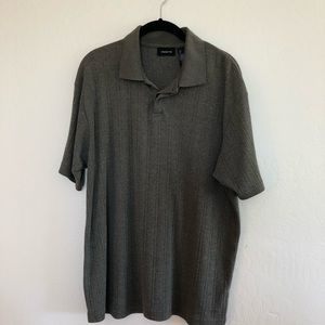 Claiborne taupe/green polo sweater